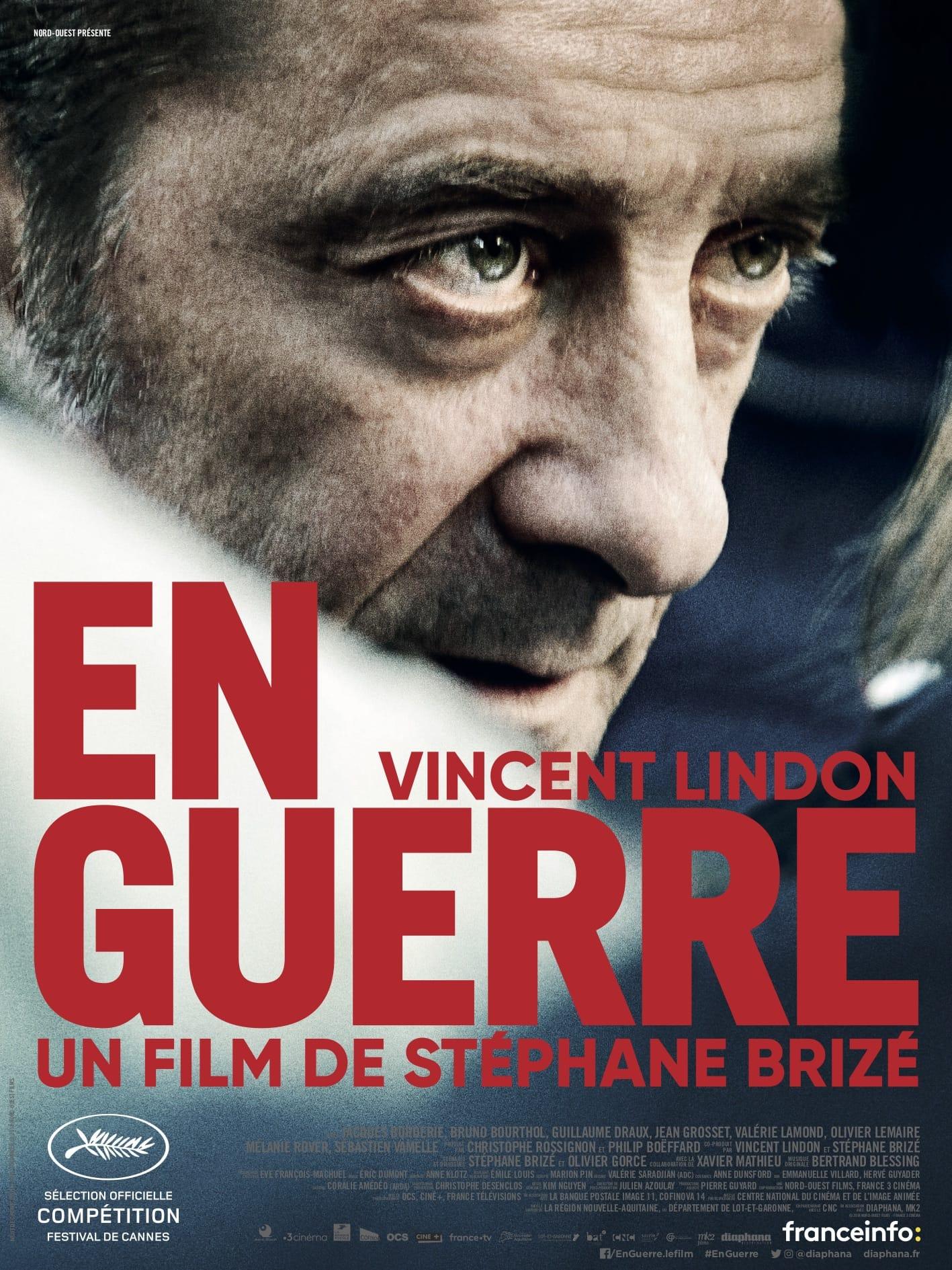 En Guerre de Stéphane Brizé affiche film cinéma