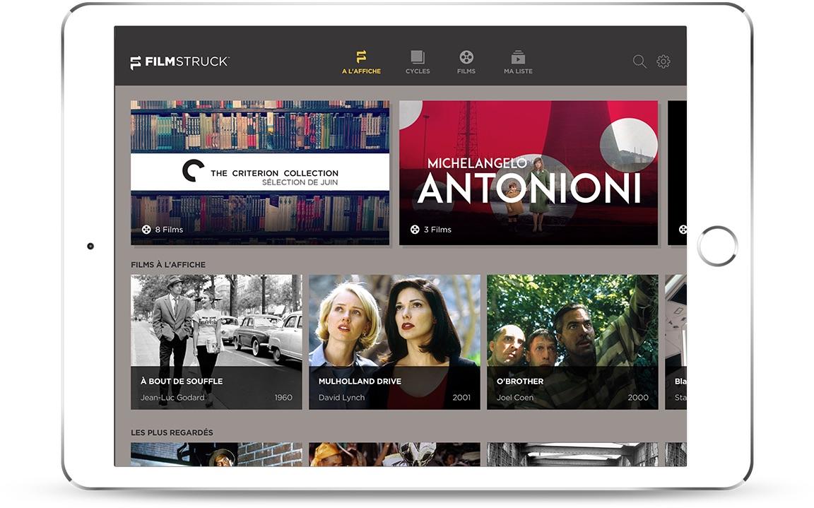 FilmStruck image tablette