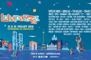 Lollapalooza Paris 2018 affiche