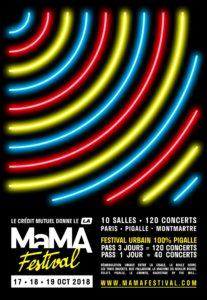 L'affiche du MaMA festival 2018 du 17 au 19 octobre 2018 à Paris