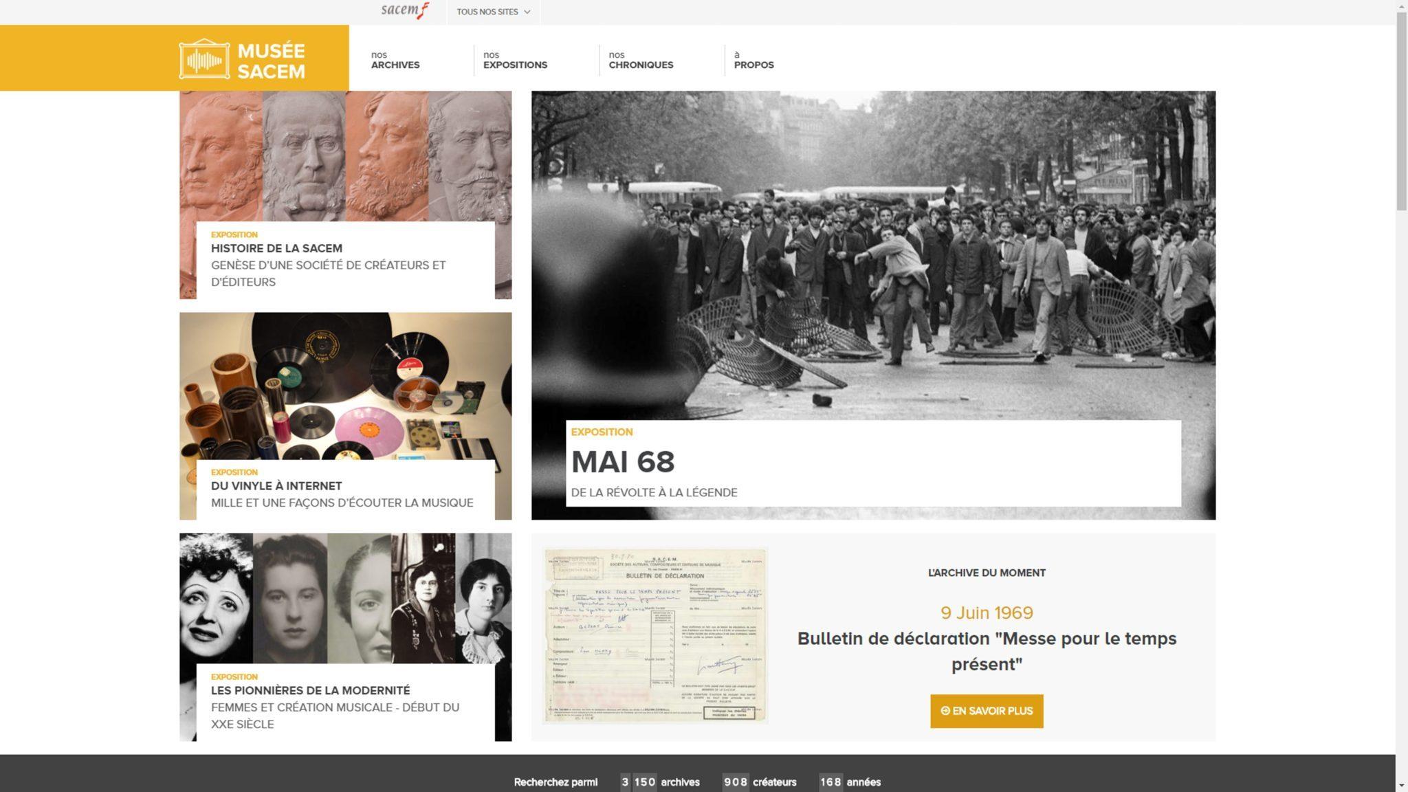 Musée Sacem image page d'accueil