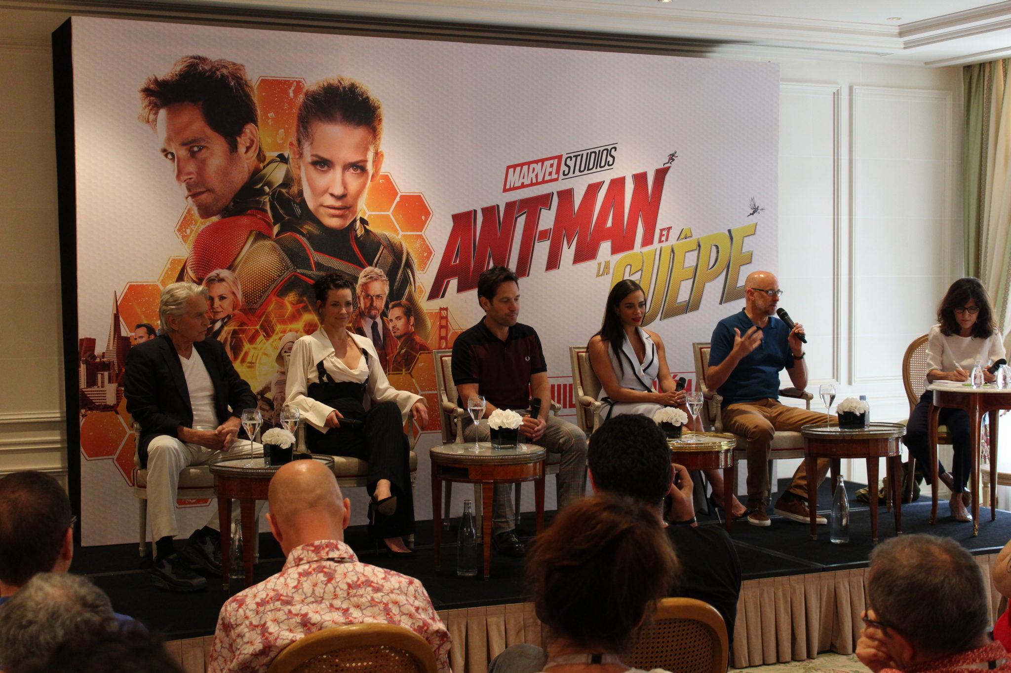 Ant-Man et la Guêpe conférence de presse junket avec l'équipe du film avant-première européenne