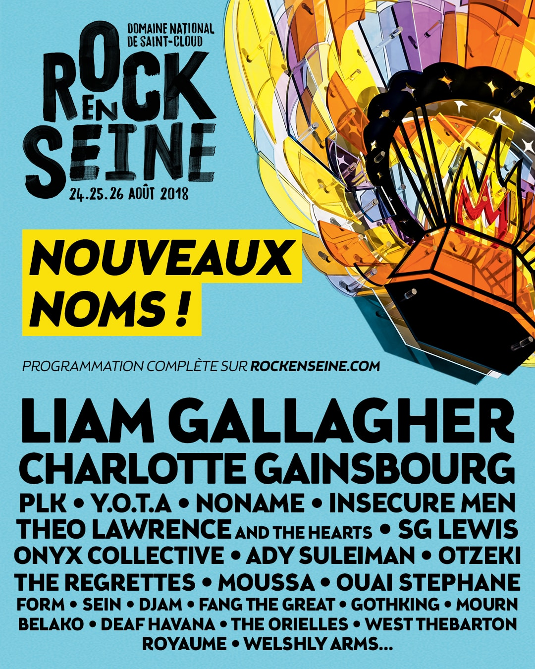 Rock en Seine 2018 affiche programme