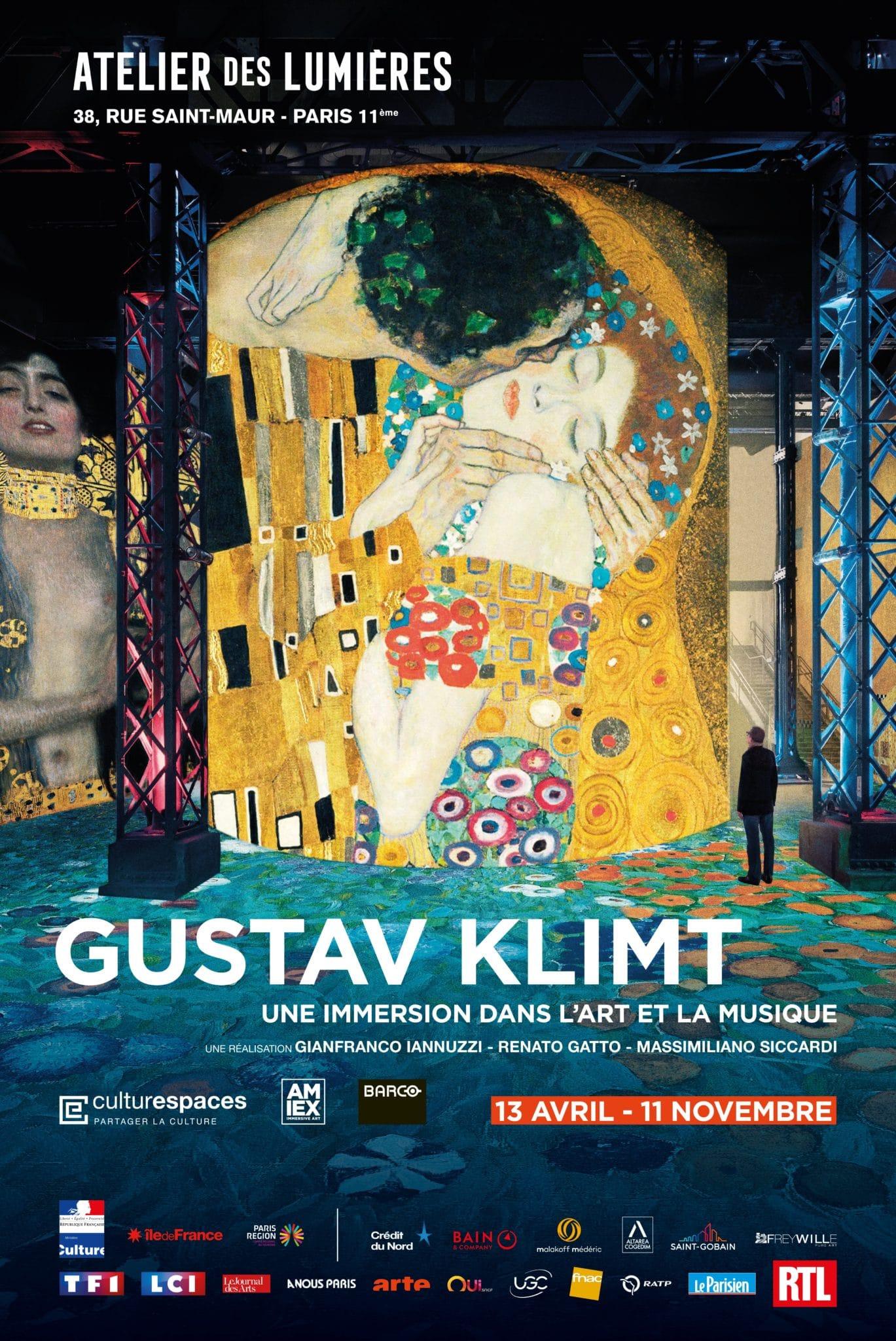 Gustav Klimt, une immersion dans l'art et la musique - Atelier des Lumières