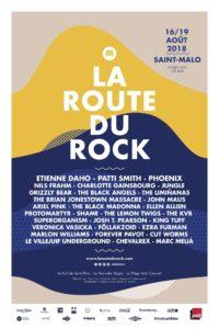 La Route du Rock 2018 affiche