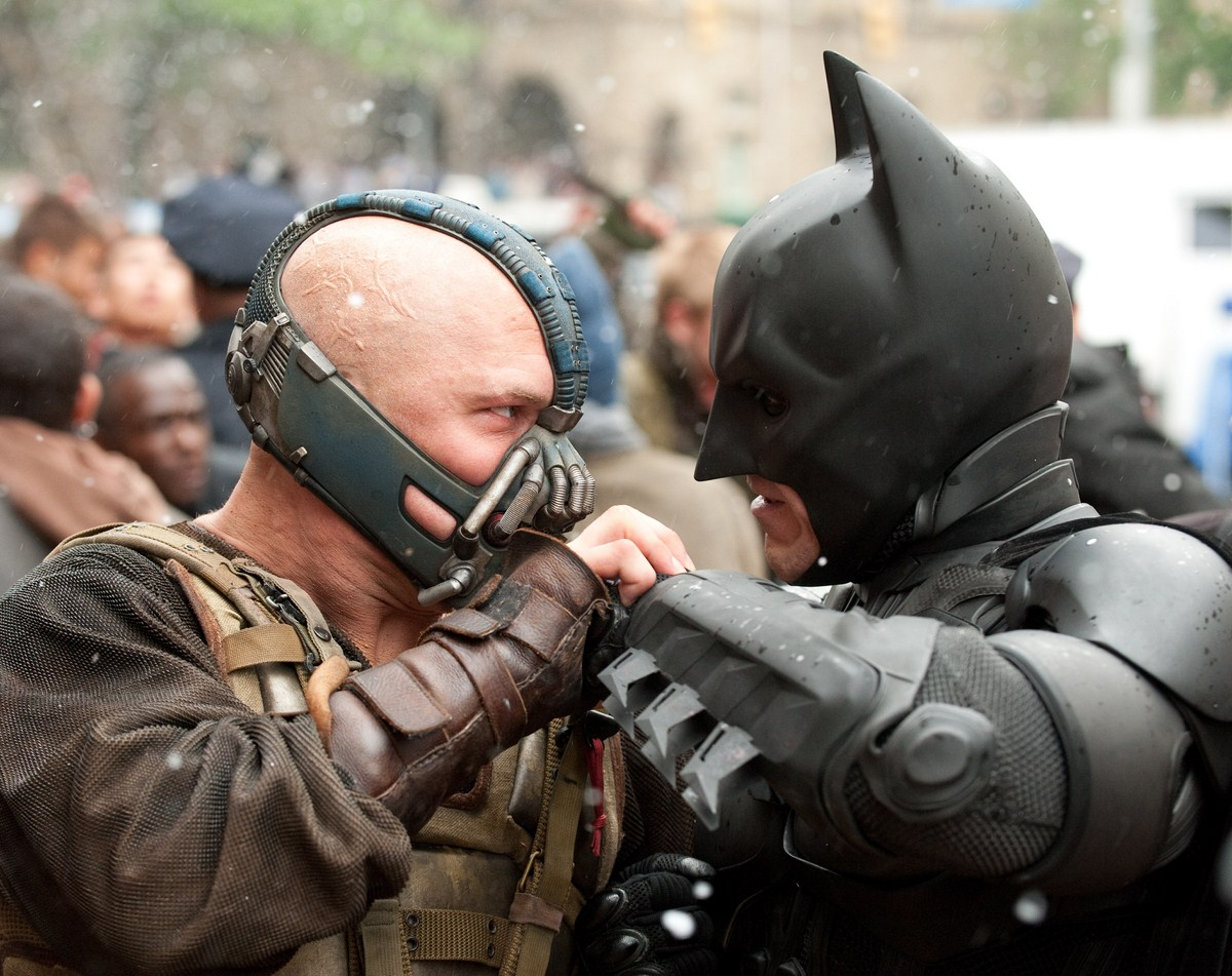 Bane Tom Hardy Christian Bale Batman The Dark Knight Rises