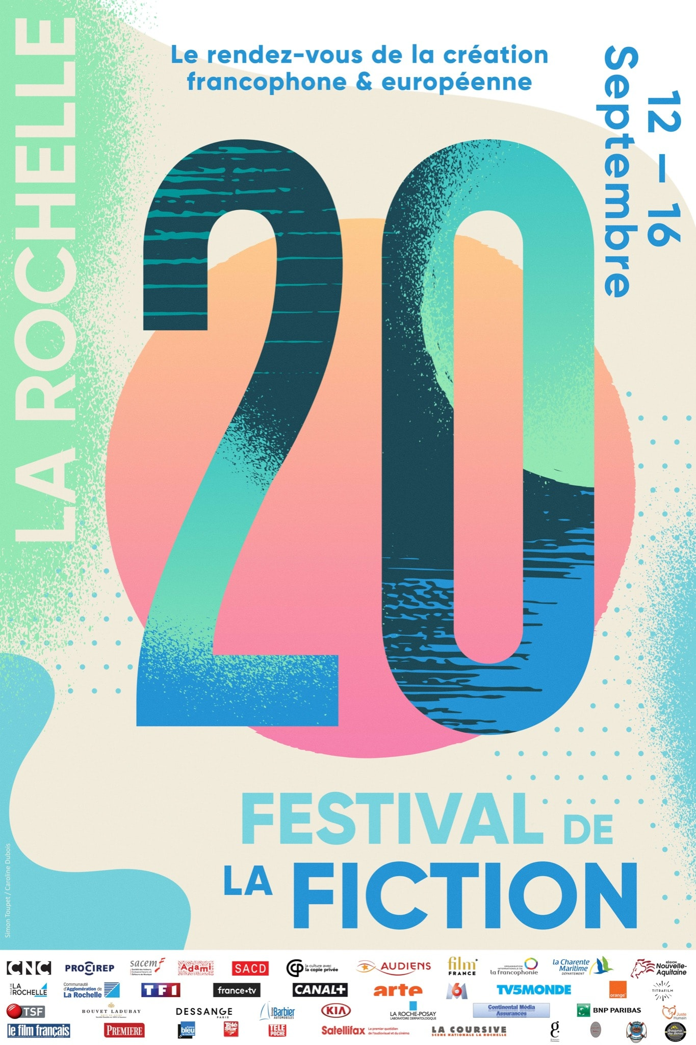 Festival de la Fiction TV de La Rochelle 2018 affiche