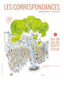 Les Correspondances de Manosque-La Poste 2018 affiche évènement littéraire