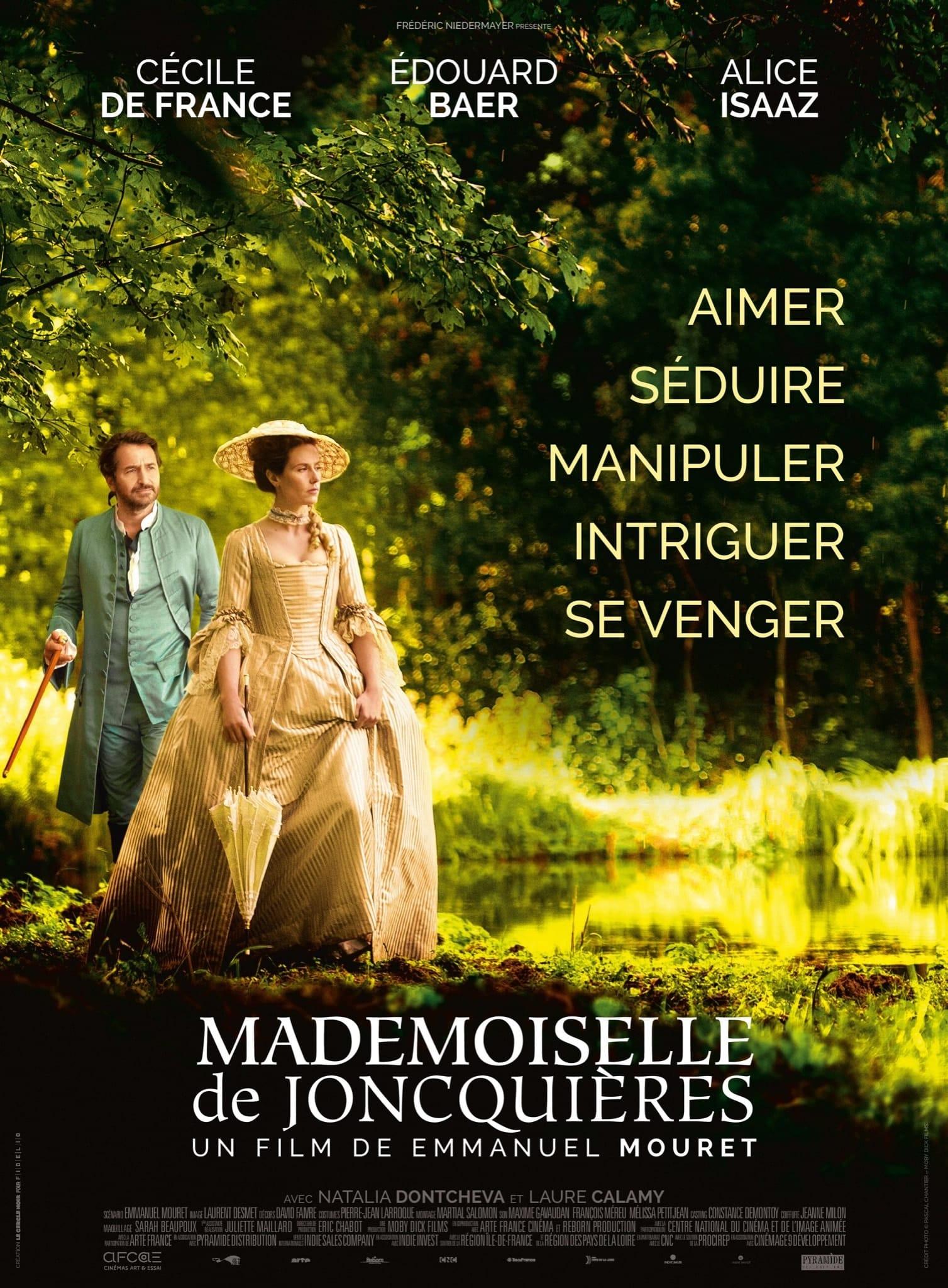 affiche film Mademoiselle de Joncquières d'Emmanuel Mouret