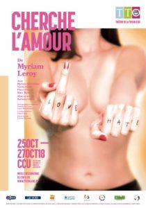 affiche Cherche l'amour de Myriam Leroy
