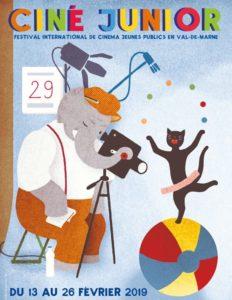 Festival Ciné Junior 2019 affiche festival cinéma kids