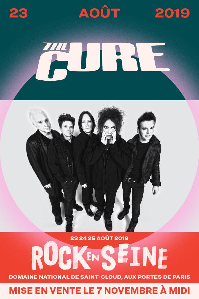 The Cure affiche teaser Rock en Seine 2019 concert live