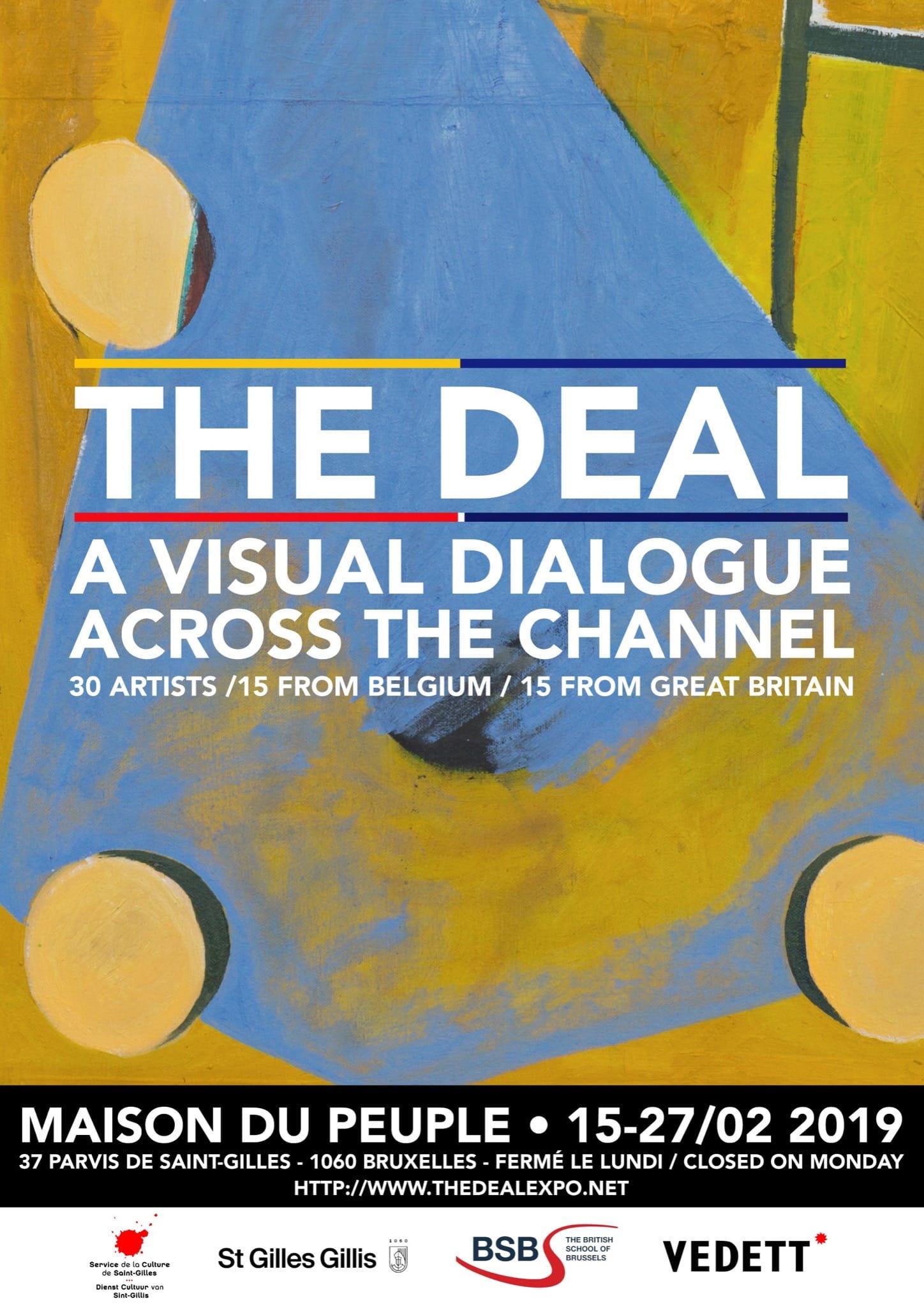 Exposition The Deal affiche Maison du Peuple Bruxelles