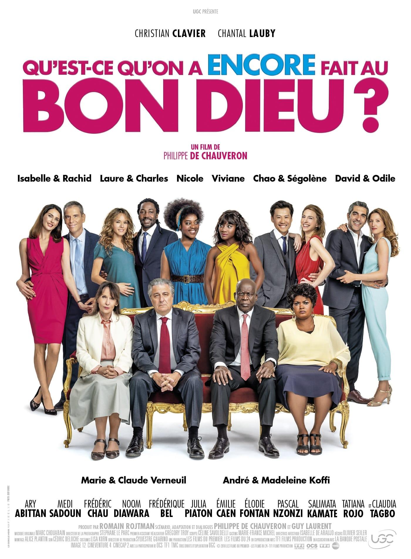 QU'EST-CE QU'ON A ENCORE FAIT AU BON DIEU ? de Philippe de Chauveron affiche film cinéma