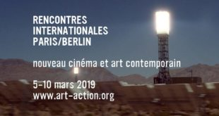 Rencontres Internationales Paris:Berlin 2019 affiche nouveau cinéma et art contemporain