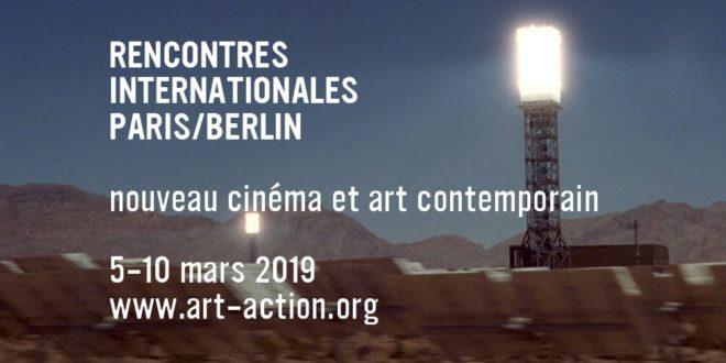 Rencontres Internationales Paris:Berlin 2019 affiche nouveau cinéma et art contemporain