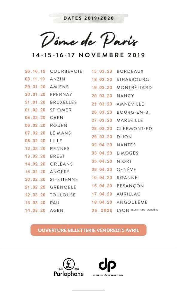 Alain Souchon dates tournée 2019-2020 concerts lives
