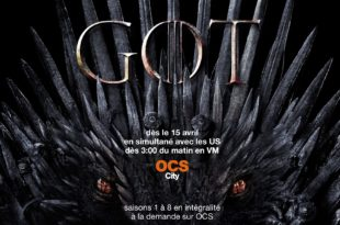 GAME OF THRONES saison 8 afffiche OCS série