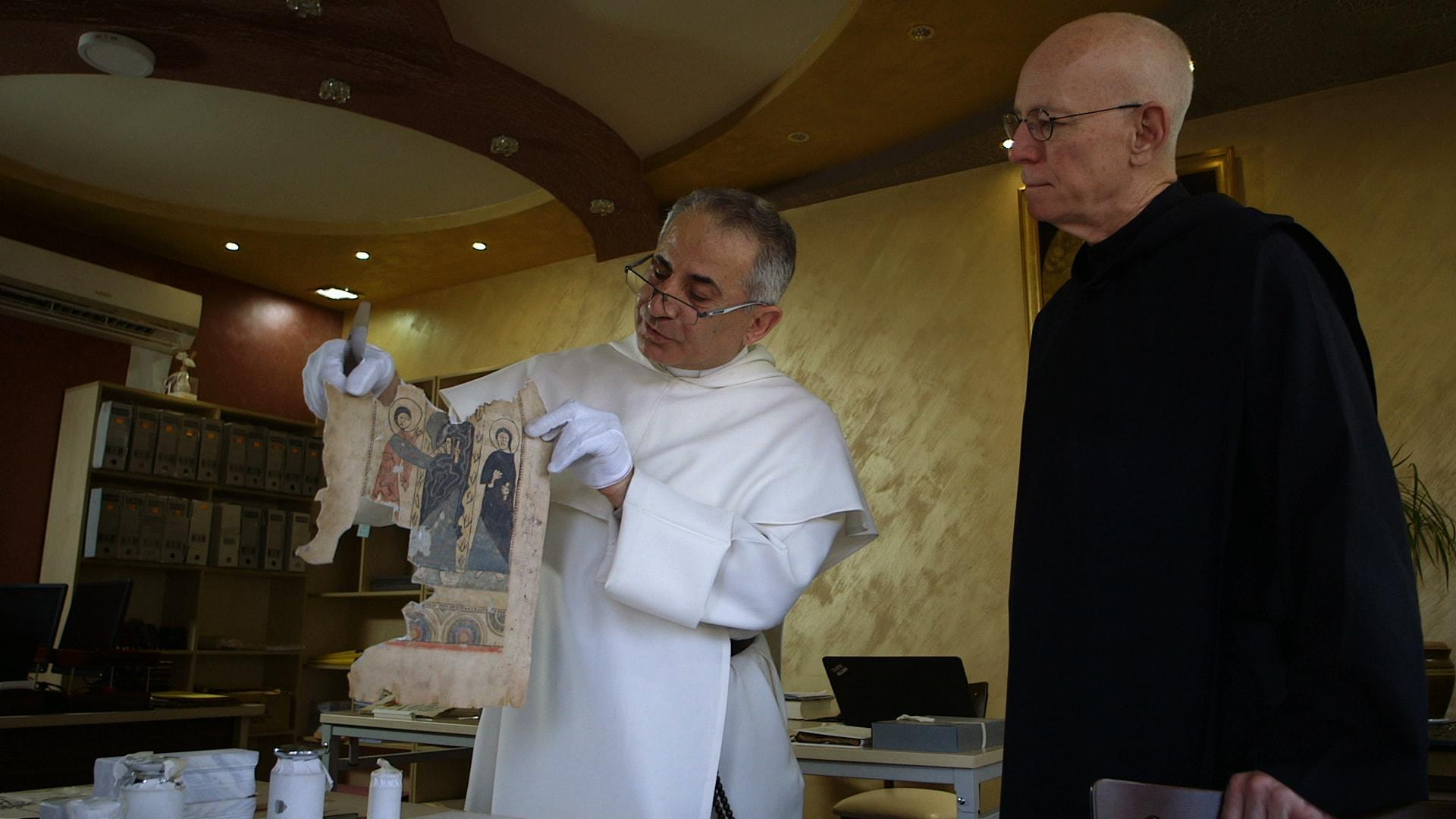 Manuscrits en péril de Susanne Brahms image Pater Nejeeb und Pater Columba documentaire