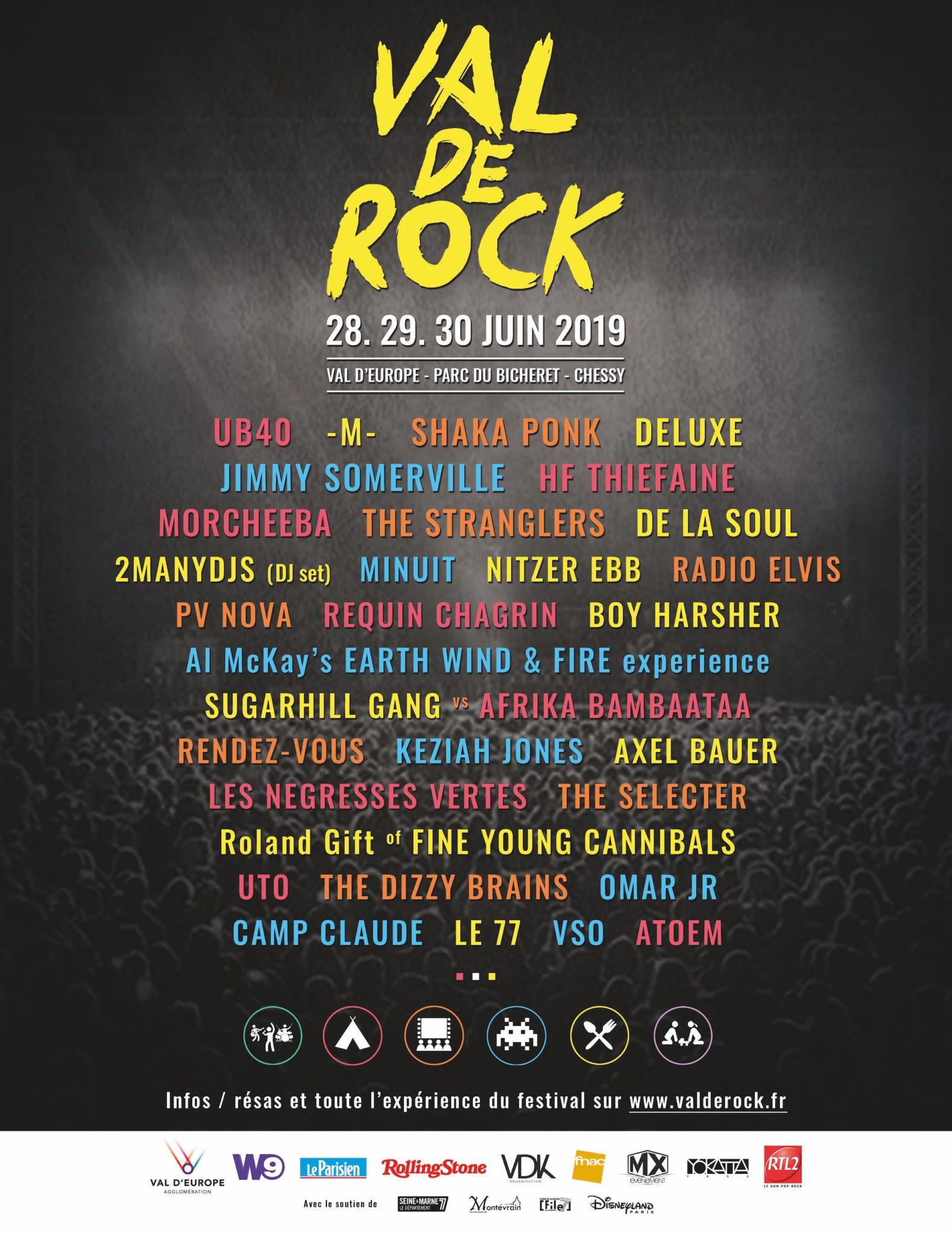 VAL DE ROCK 2019 Affiche musique