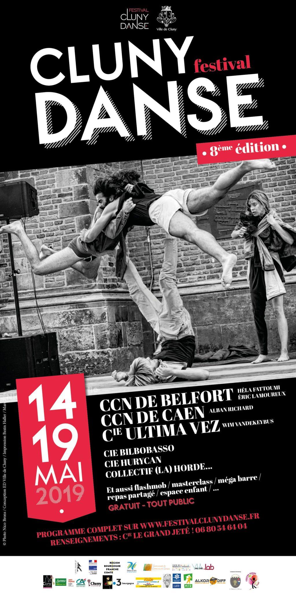 AFFICHE FESTIVAL CLUNY DANSE 8e édition