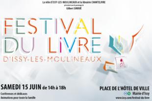 Festival du Livre d'Issy-les-Moulineaux 2019 affiche un événement pour toute la famille et toutes les envies