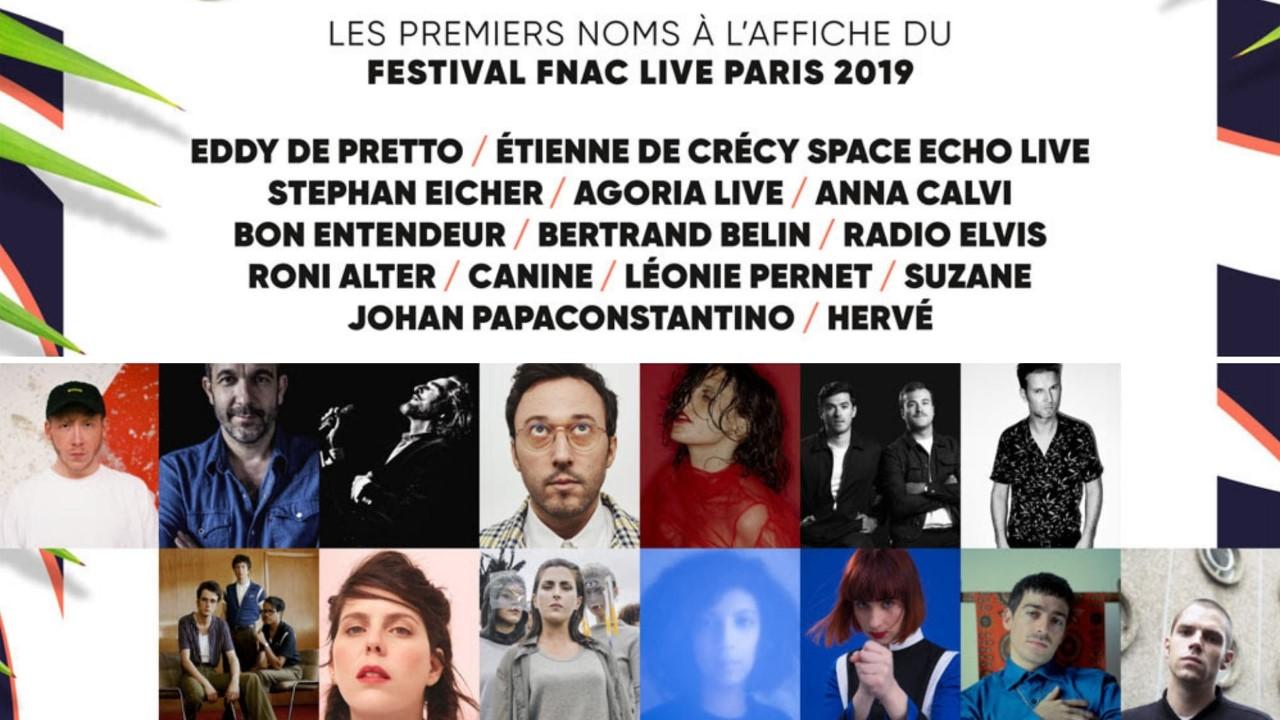 Festival Fnac Live 2019 line-up