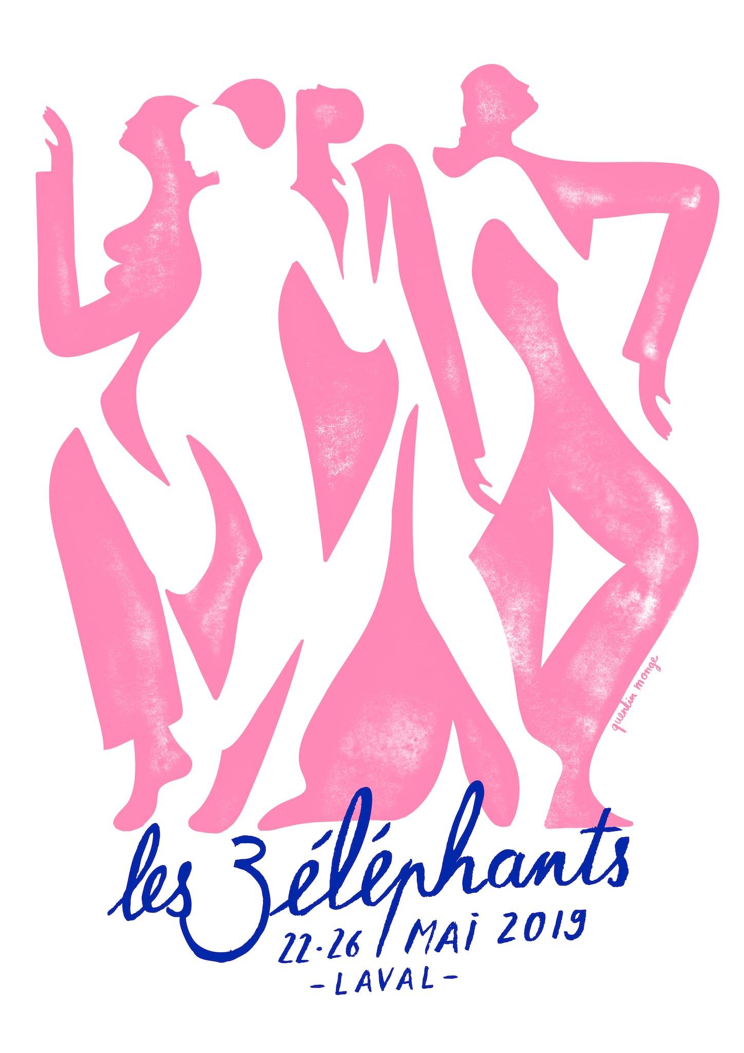 Festival Les 3 Eléphants 2019 AFFICHE musique spectacles