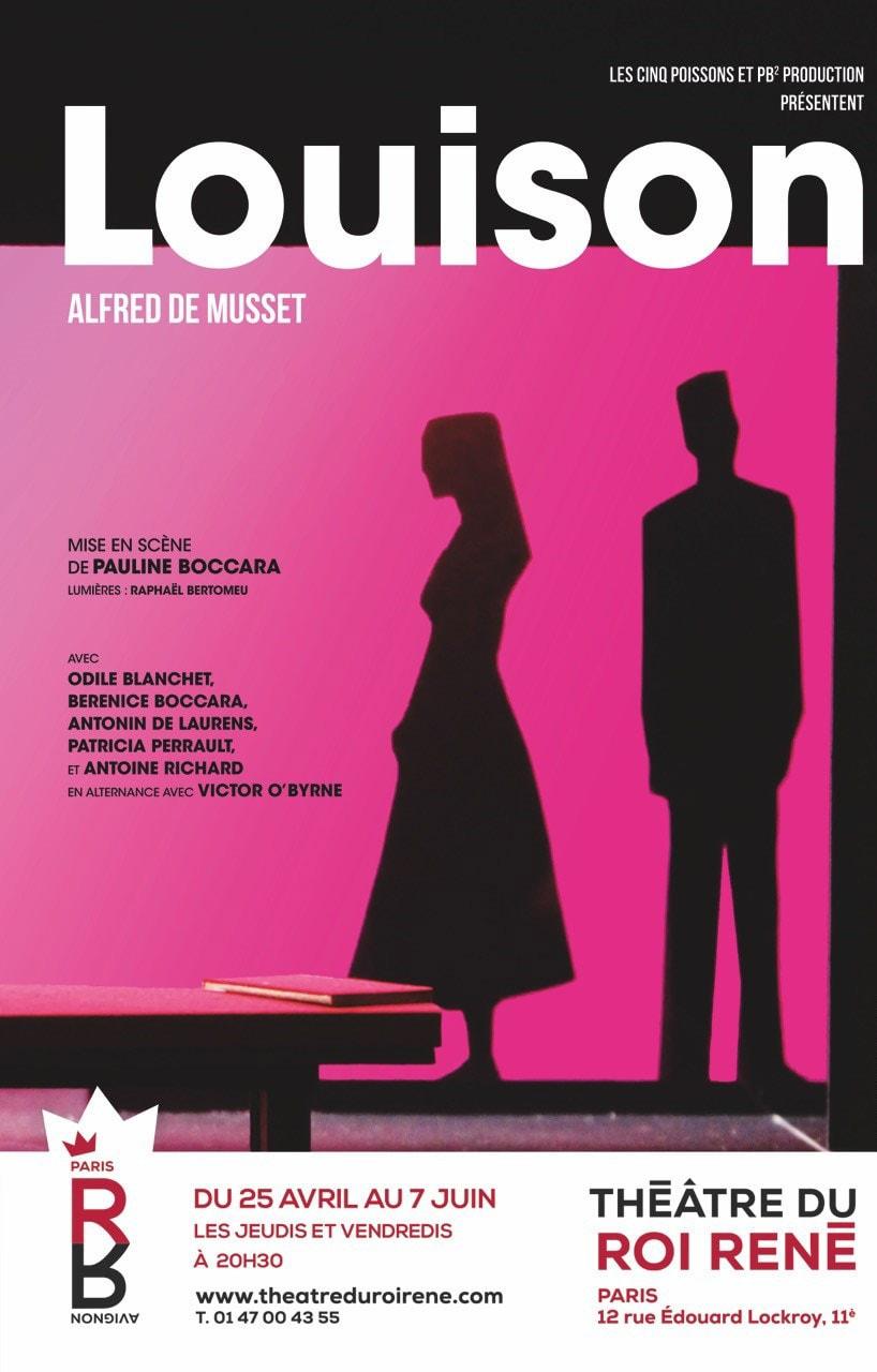 Louison par la Compagnie CINQ POISSONS affihce Théâtre du Roi René Paris théâtre classique