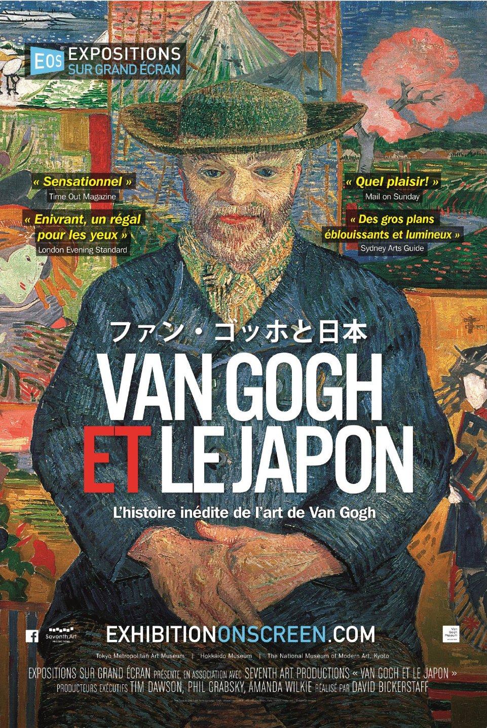 Van Gogh et le Japon de David Bickerstaff affiche film documentaire cinéma