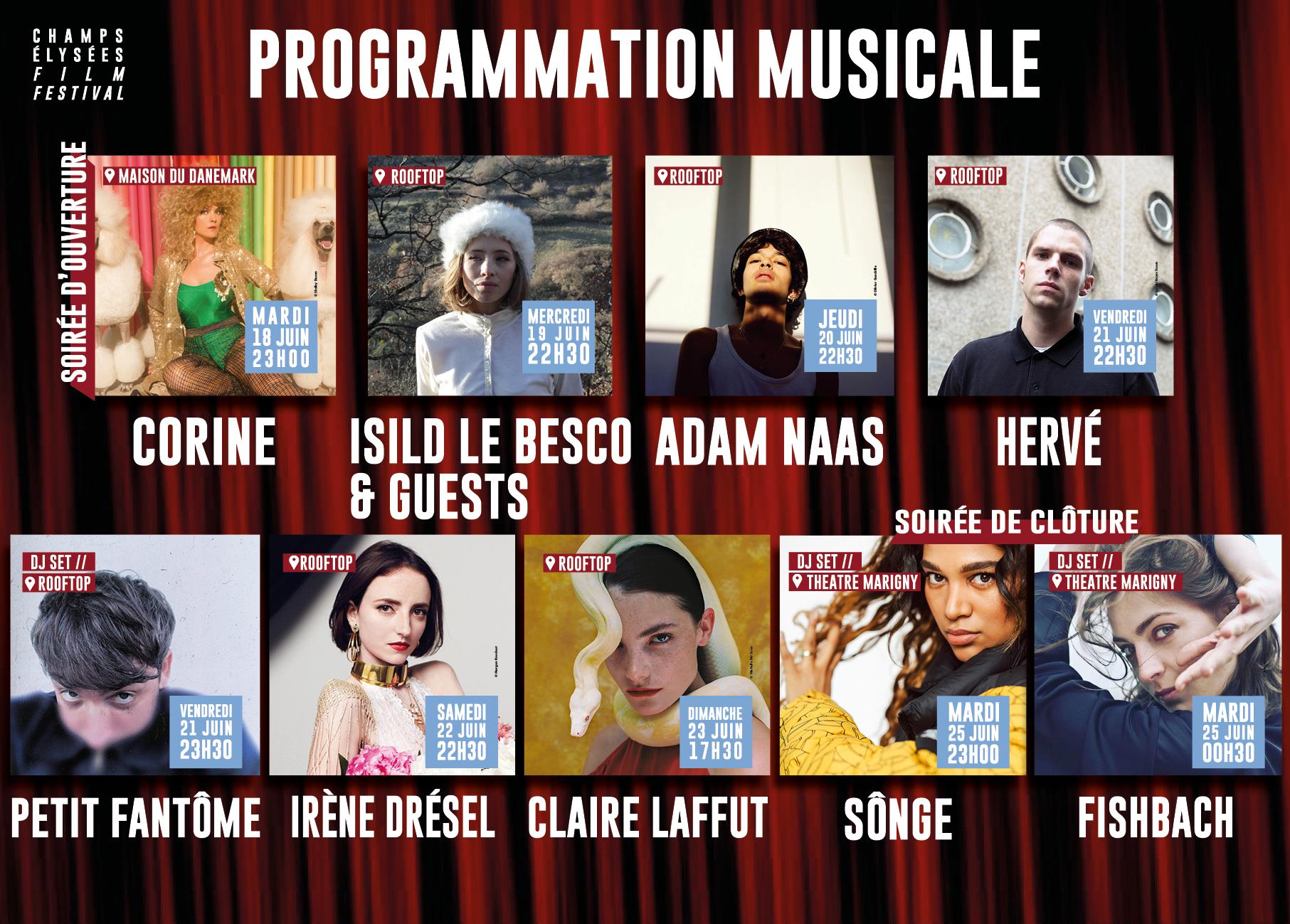 Champs-Elysées Film Festival 2019 programmation musicale