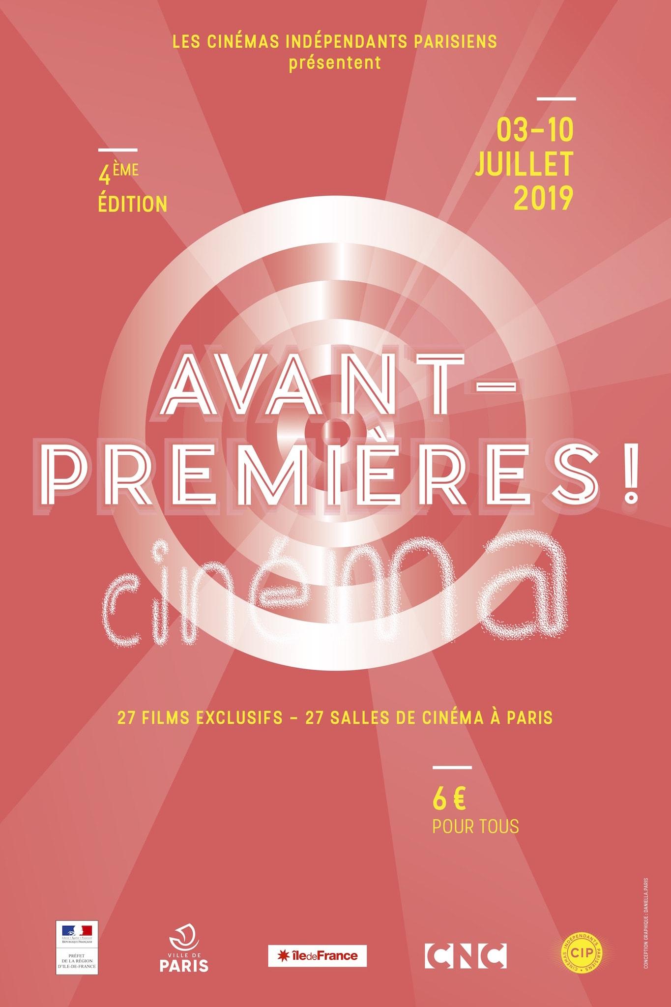 FESTIVAL AVANT PREMIERES ! 2019 AFFICHE festival films cinéma