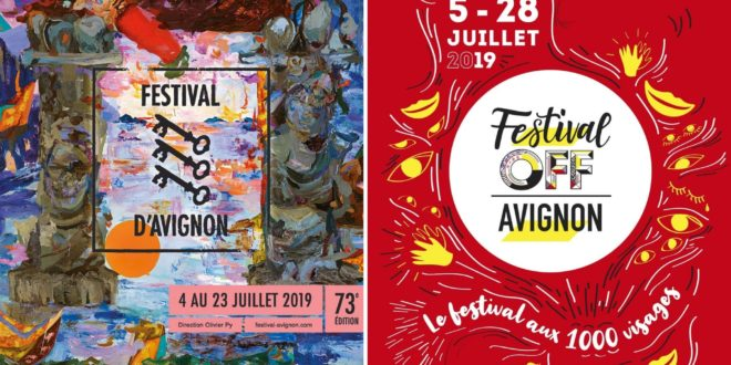 Festival IN et OFF d'Avignon 2019 affiches spectacles
