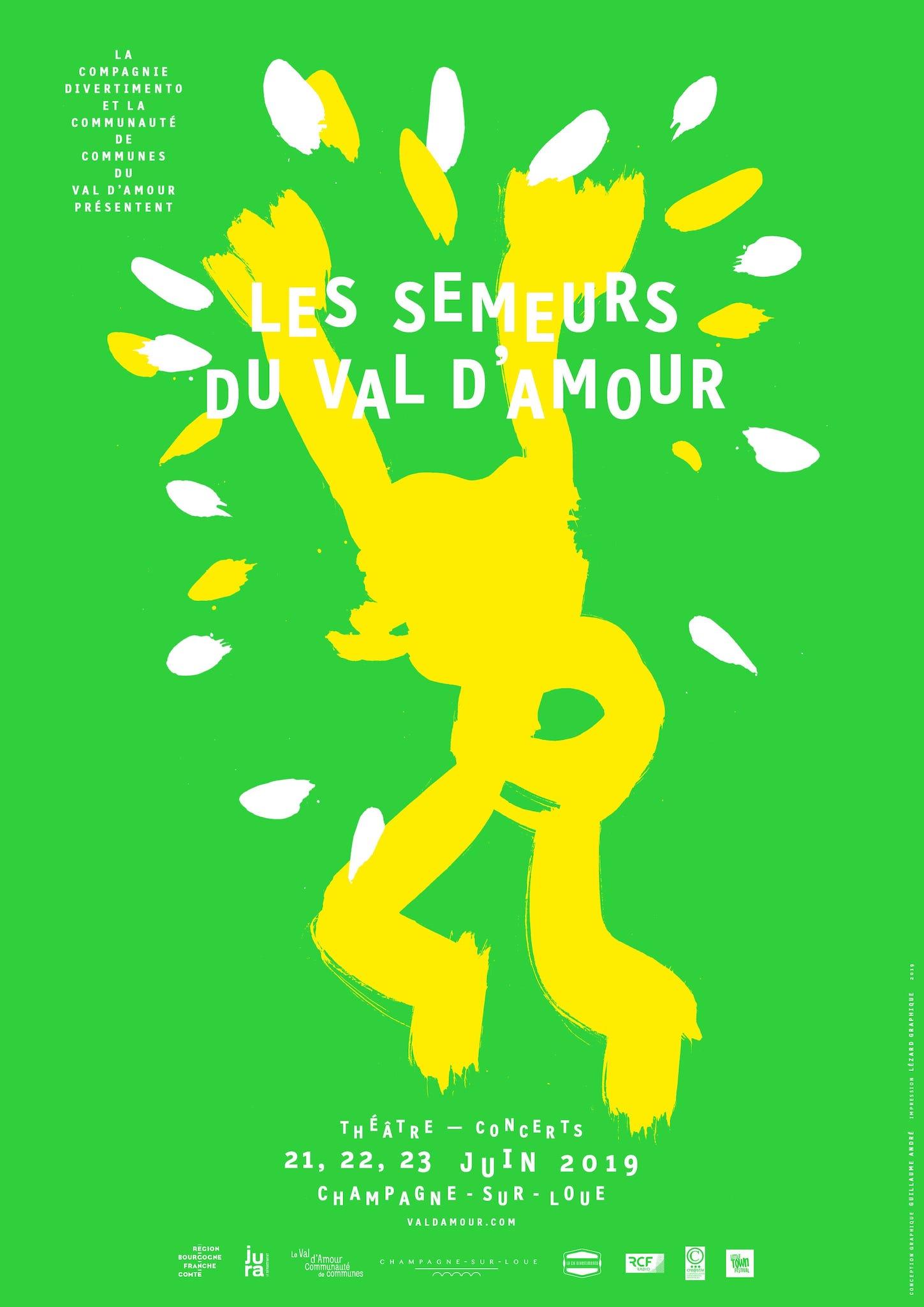 Festival Les Semeurs du Val d'Amour 2019 affiche festival de spectacles et musique