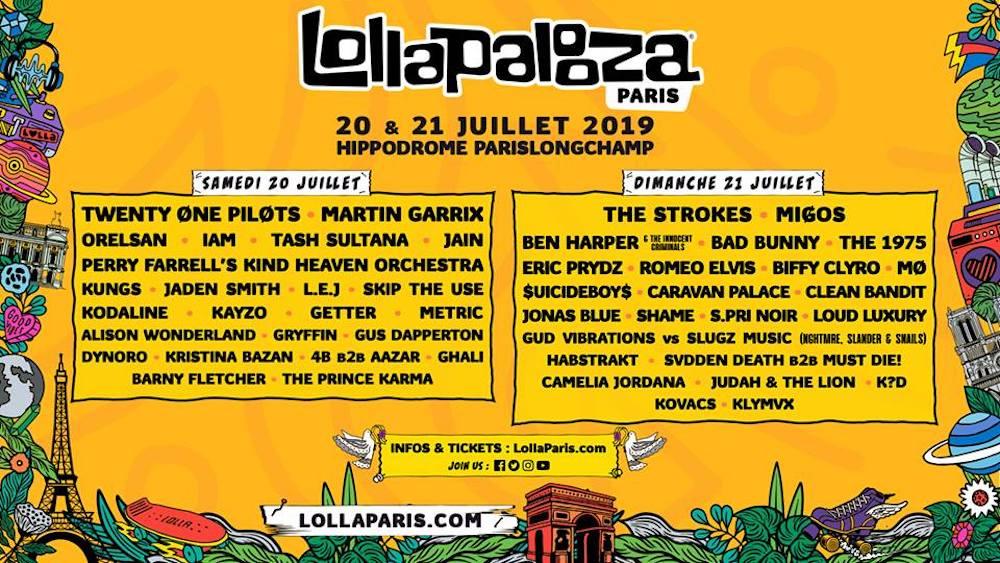 LOLLAPALOOZA PARIS 2019 festival musique