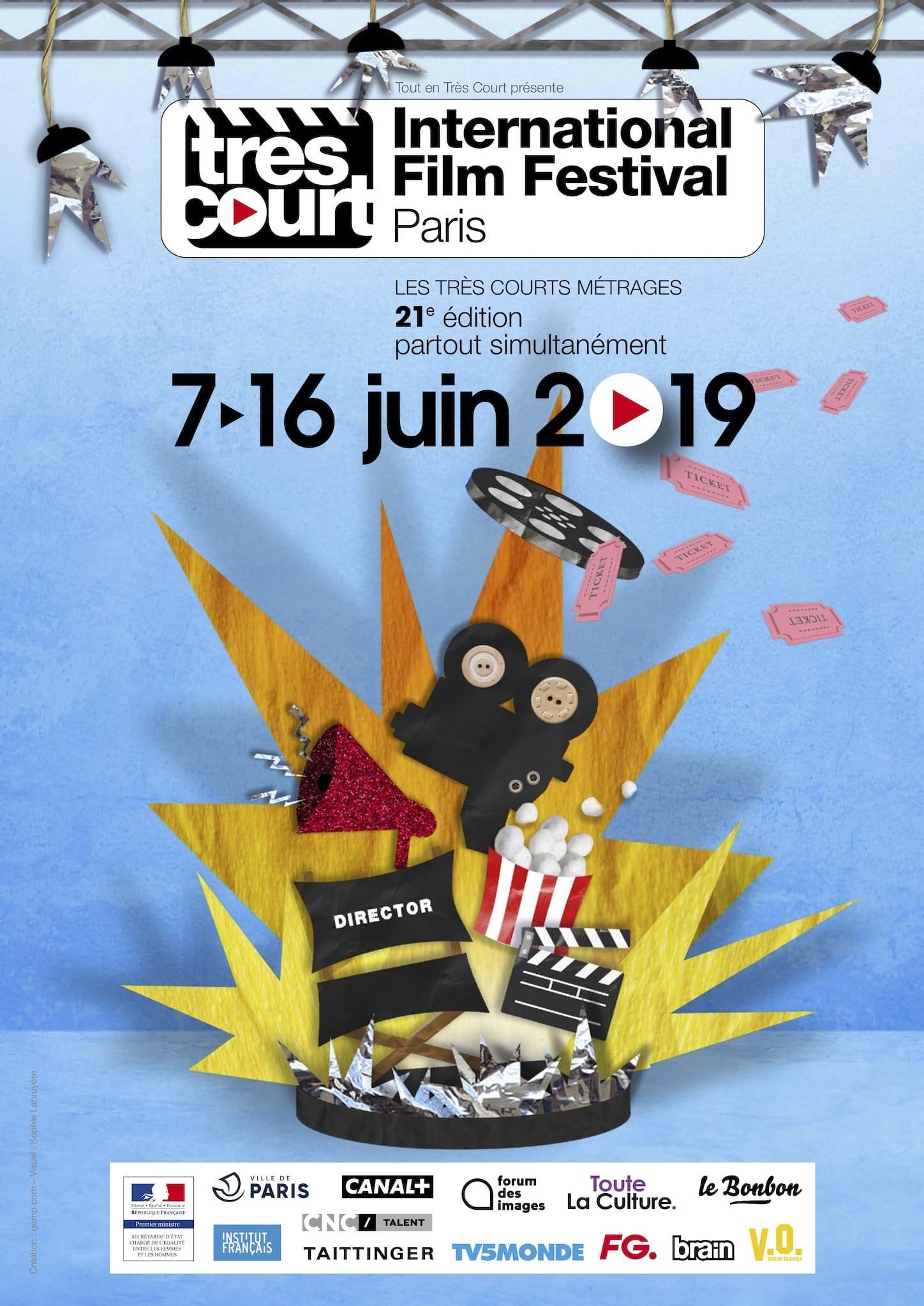 Très Court International Film Festival 2019 affiche courts-métrages cinéma