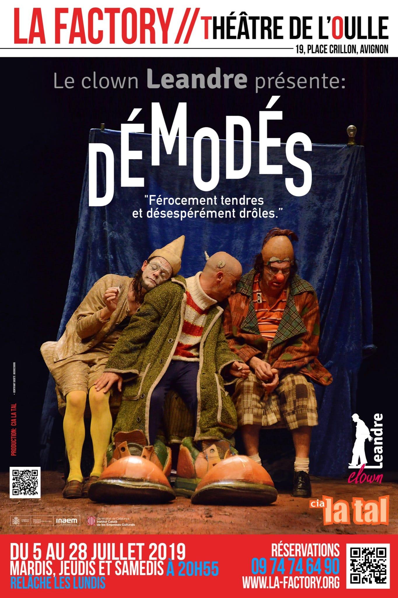 DÉMODÉS de TAL - Cie Jean-Louis Bihoreau affiche clown