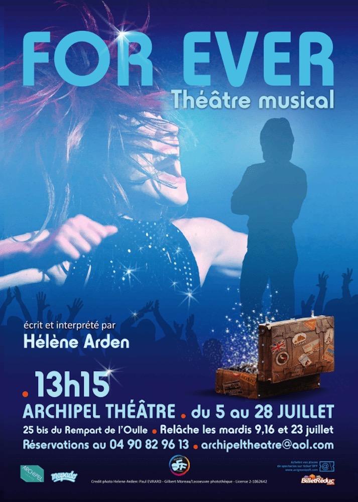 For Ever de Hélène Arden affiche théâtre musical