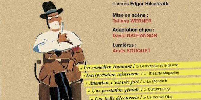Le Nazi et le Barbier par la compagnie Les Ailes de Clarence affiche théâtre