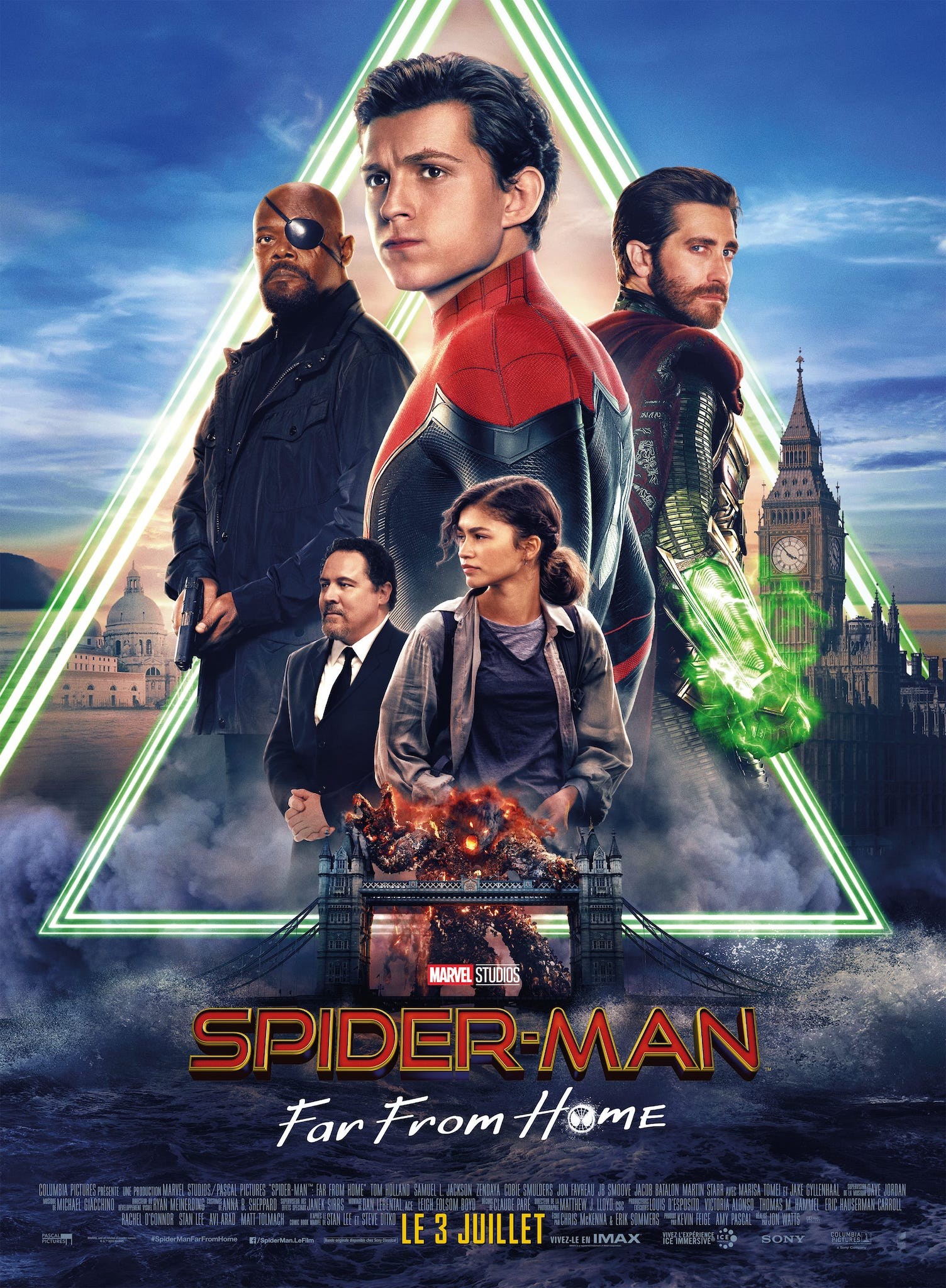 Spider-Man Far From Home de Jon Watts affiche film cinéma