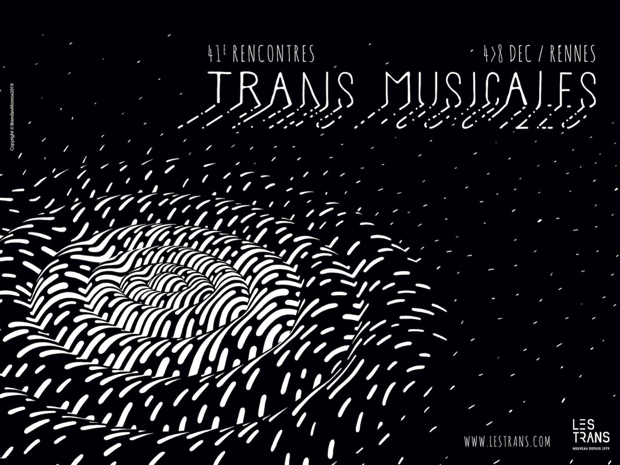 Les Trans Musicales 2019 affiche horizontale festival musique Rennes
