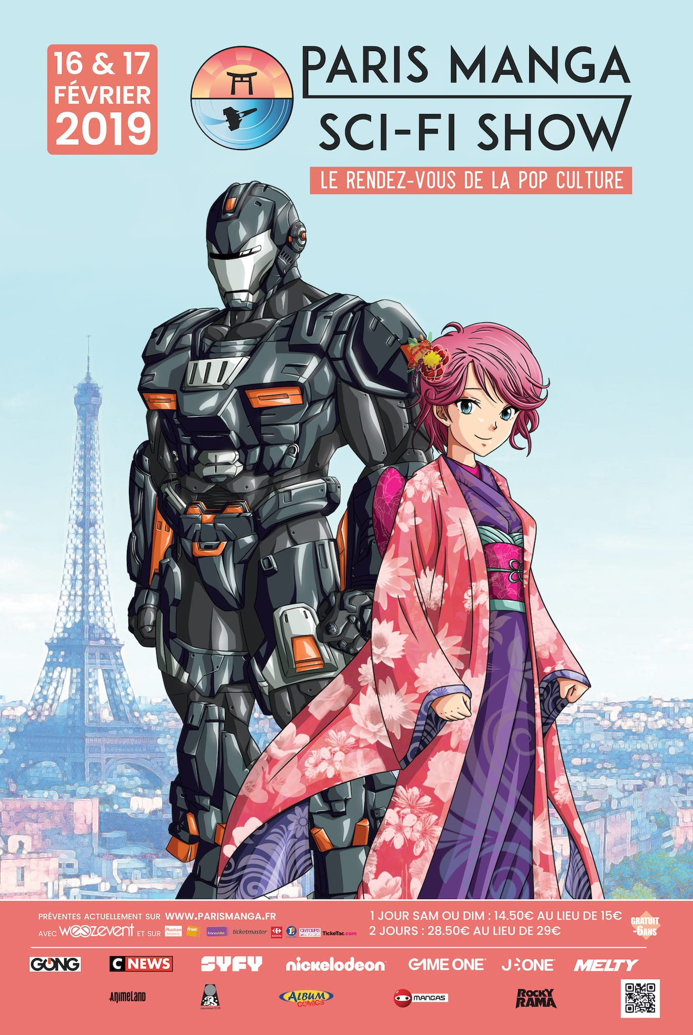Paris Manga & Sci-Fi Show 2019 affiche convention pop culture