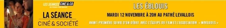 Bannière Séance ciné & société film Les Eblouis - Bulles de Culture