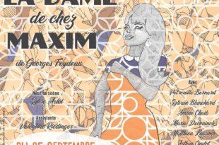 La Dame de chez Maxim par Sylvie Artel affiche comédie