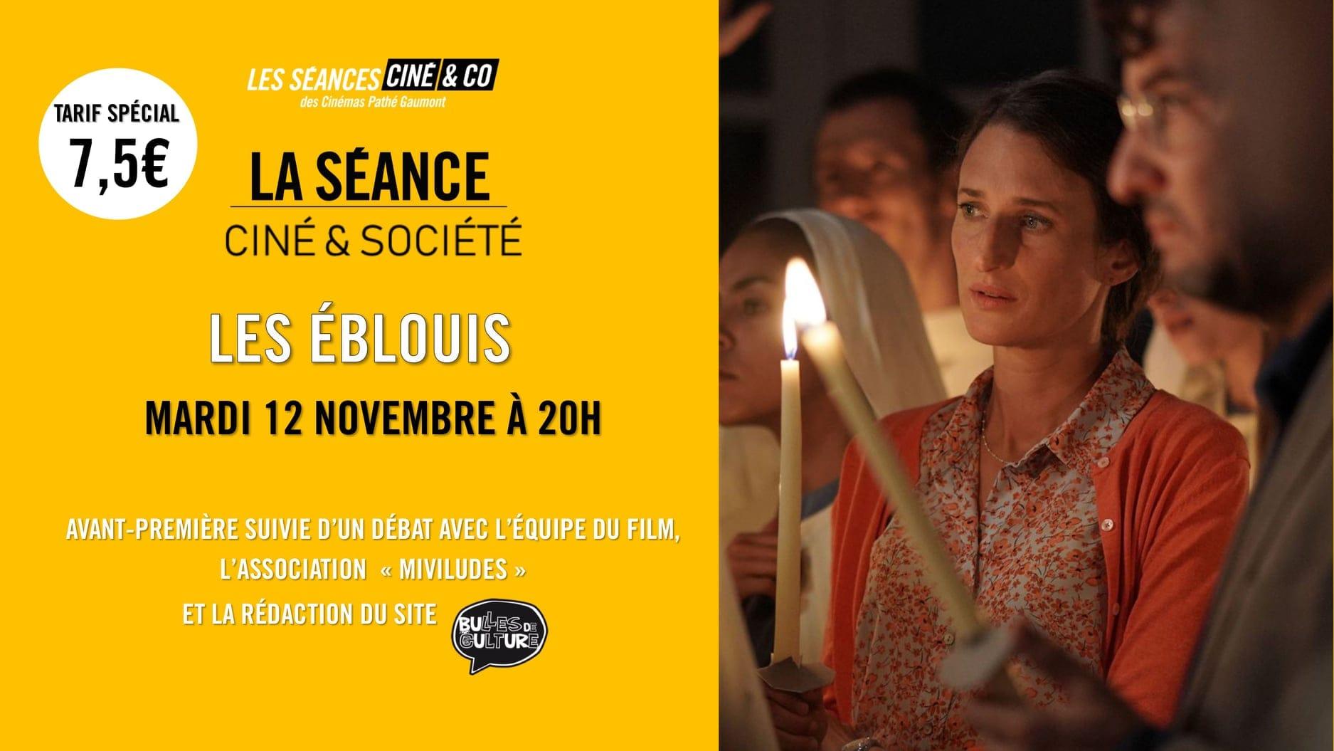 """La séance Ciné & Société """"Les Eblouis"""" avec Miviludes et Bulles de Culture visuel soirée cinéma"""