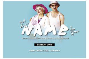 NAME Festival 2019 affiche festival musiques électroniques