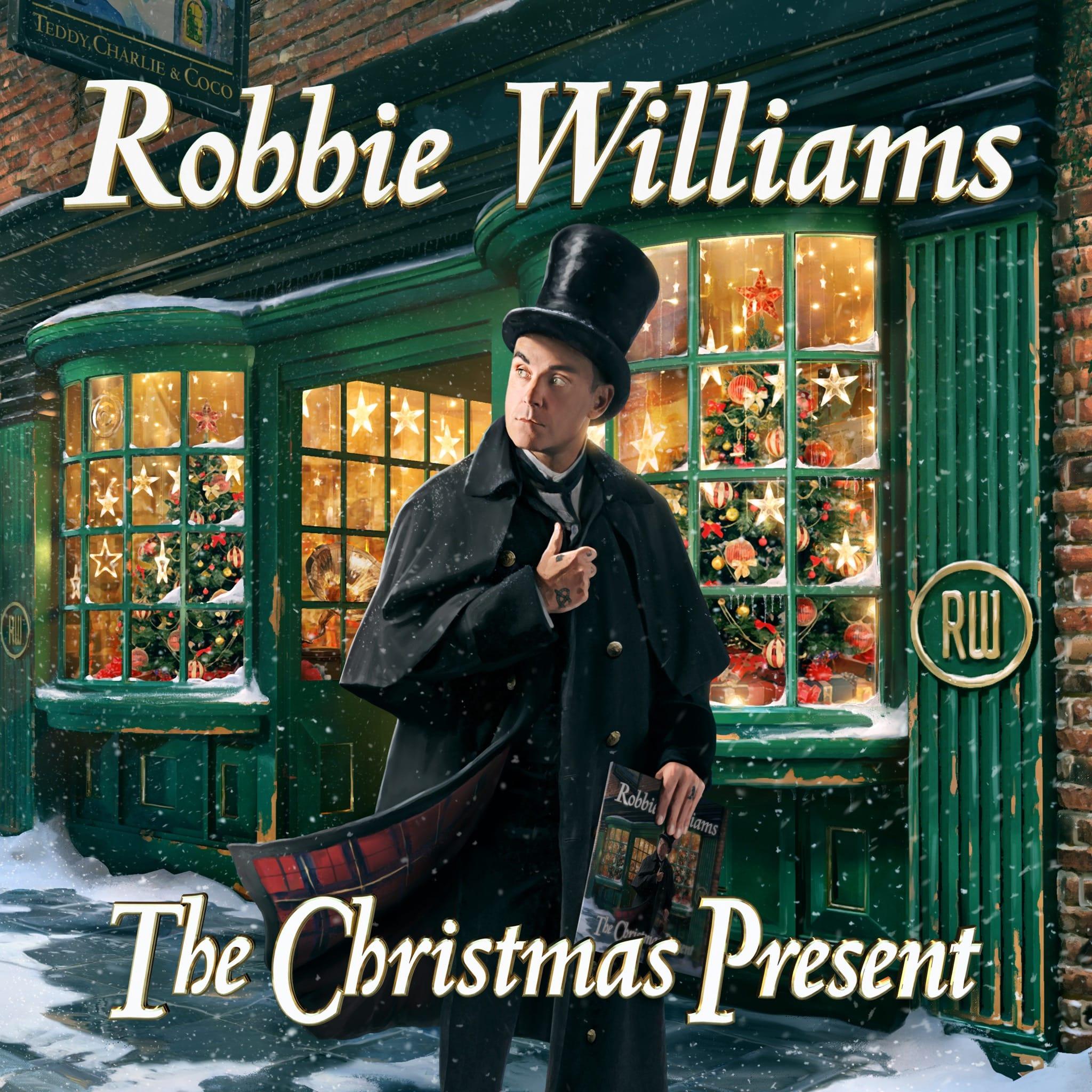 ROBBIE WILLIAMS cover pochette album THE CHRISTMAS PRESENT musique