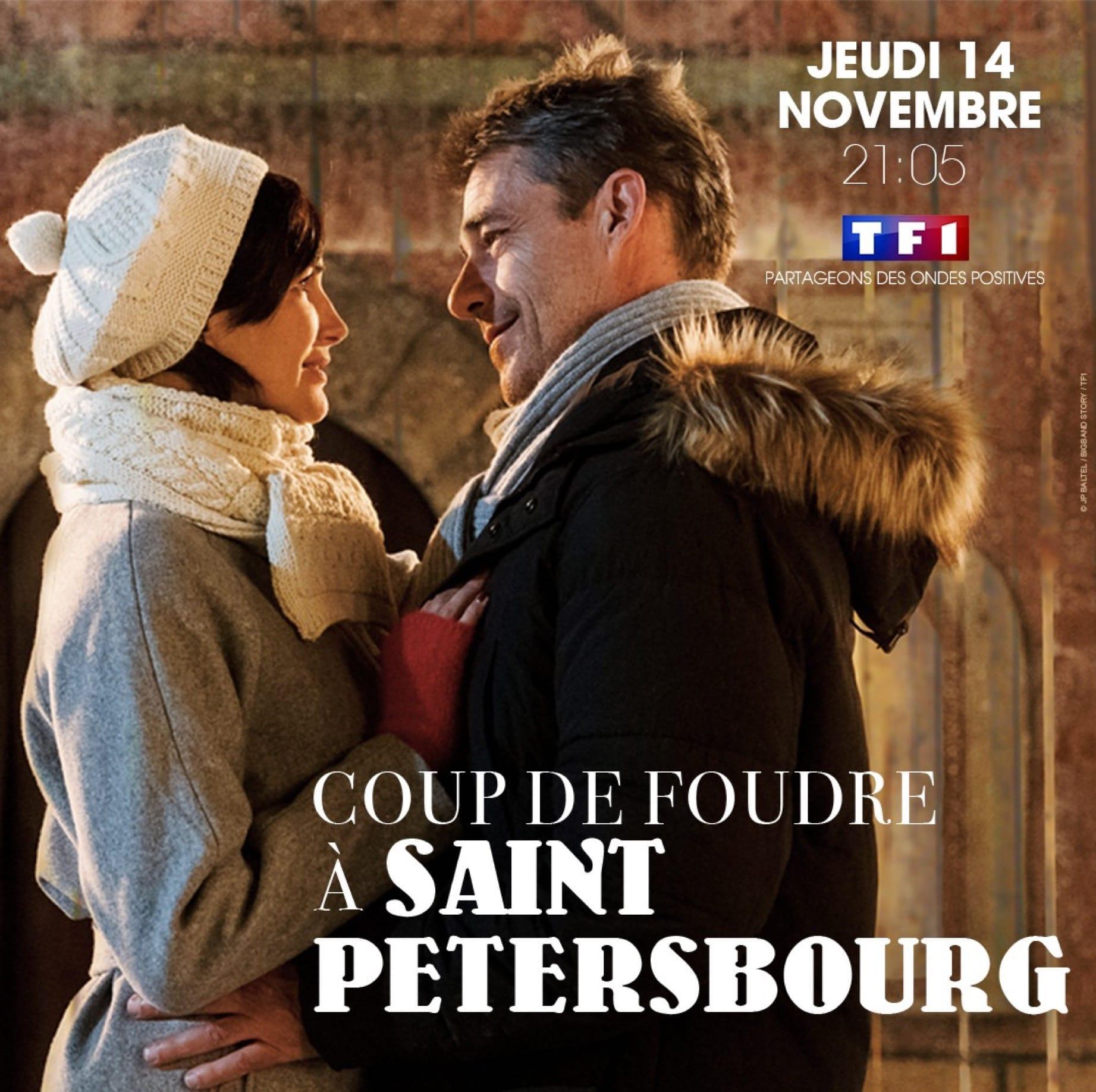 Coup de foudre à Saint-Pétersbourg de Christophe Douchand affiche téléfilm