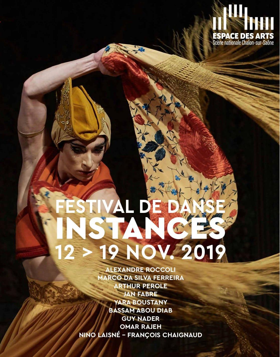 Festival de danse Instances 2019 affiche