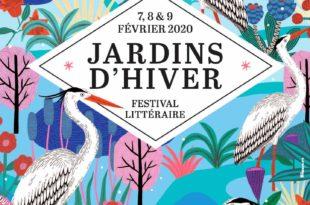 Jardins d'hiver 2020 affiche festival littéraire